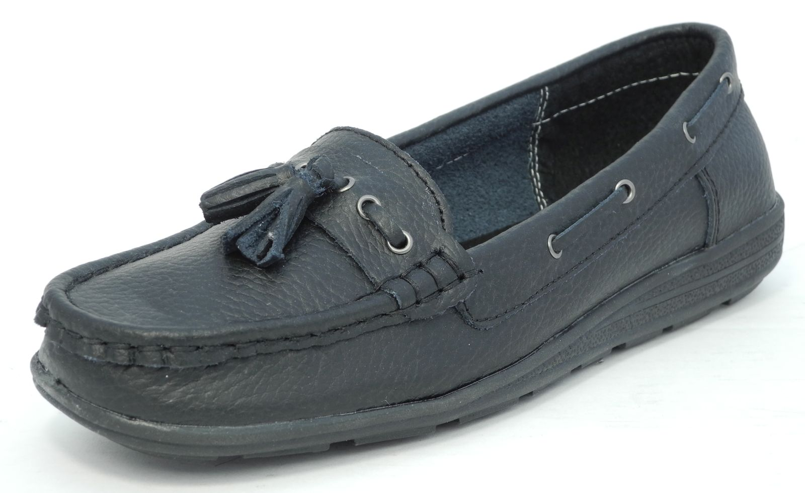 Ladies Black Boat Shoes