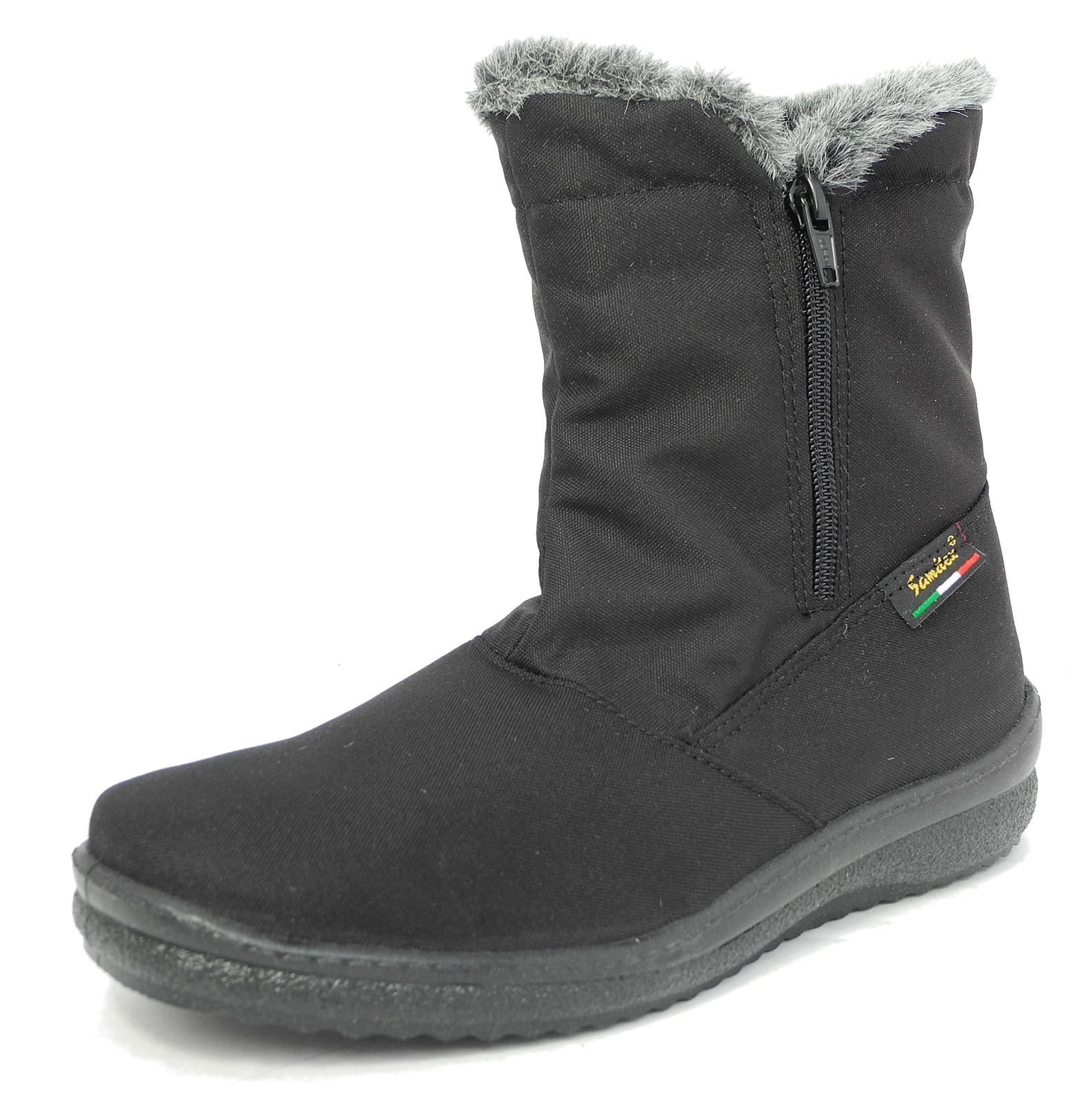 womens fur lined waterproof warm winter snow boots