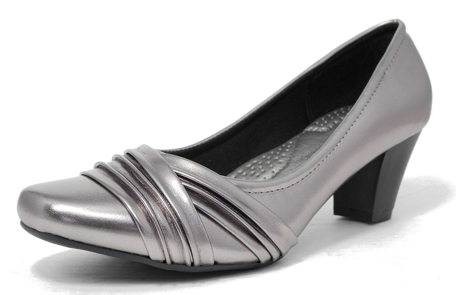 Pewter Shoes Mid Heel