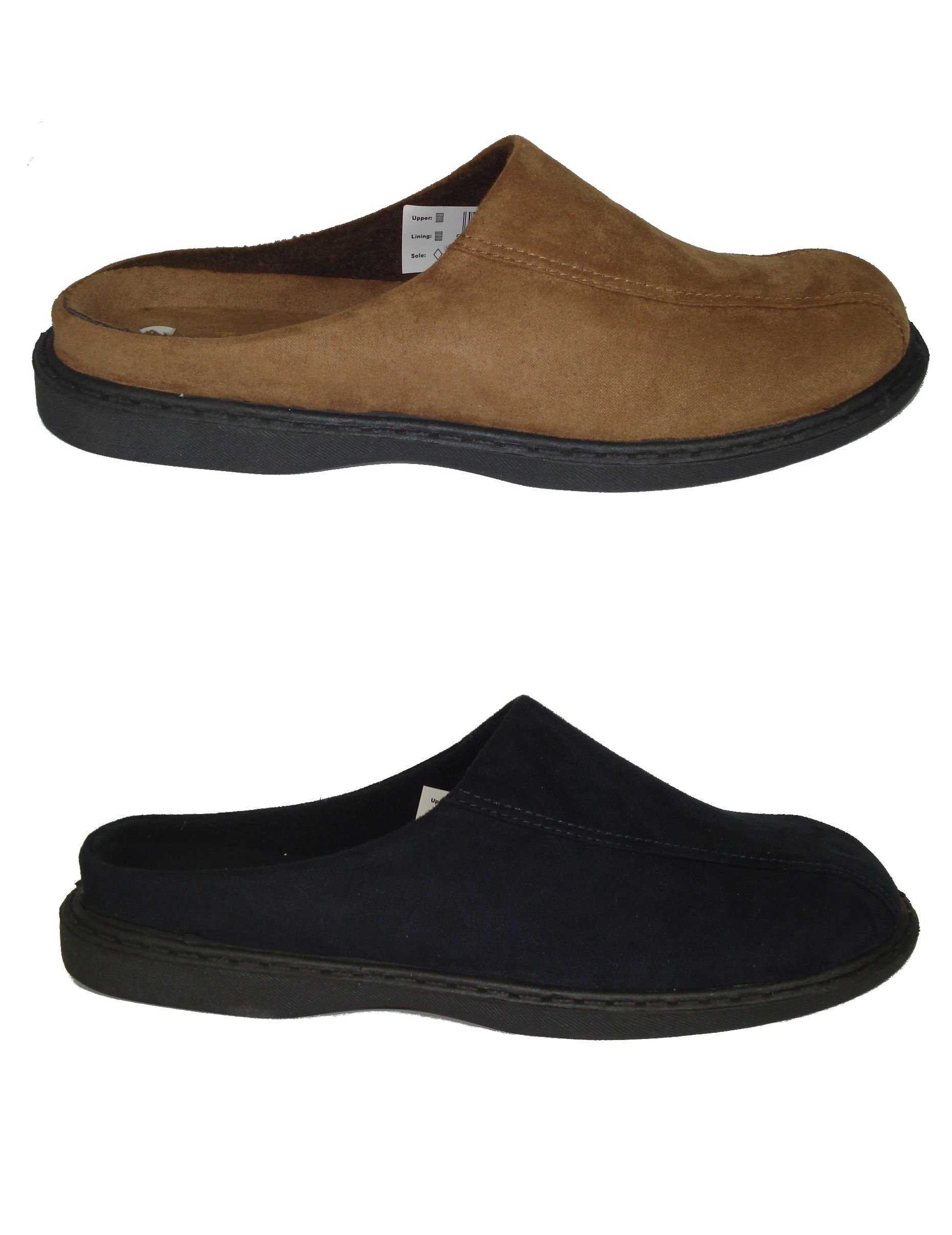 Mens Zedzzz Micro Suede Mules Slippers in Blue or Brown Sizes 6 to 12 Enlarged Preview