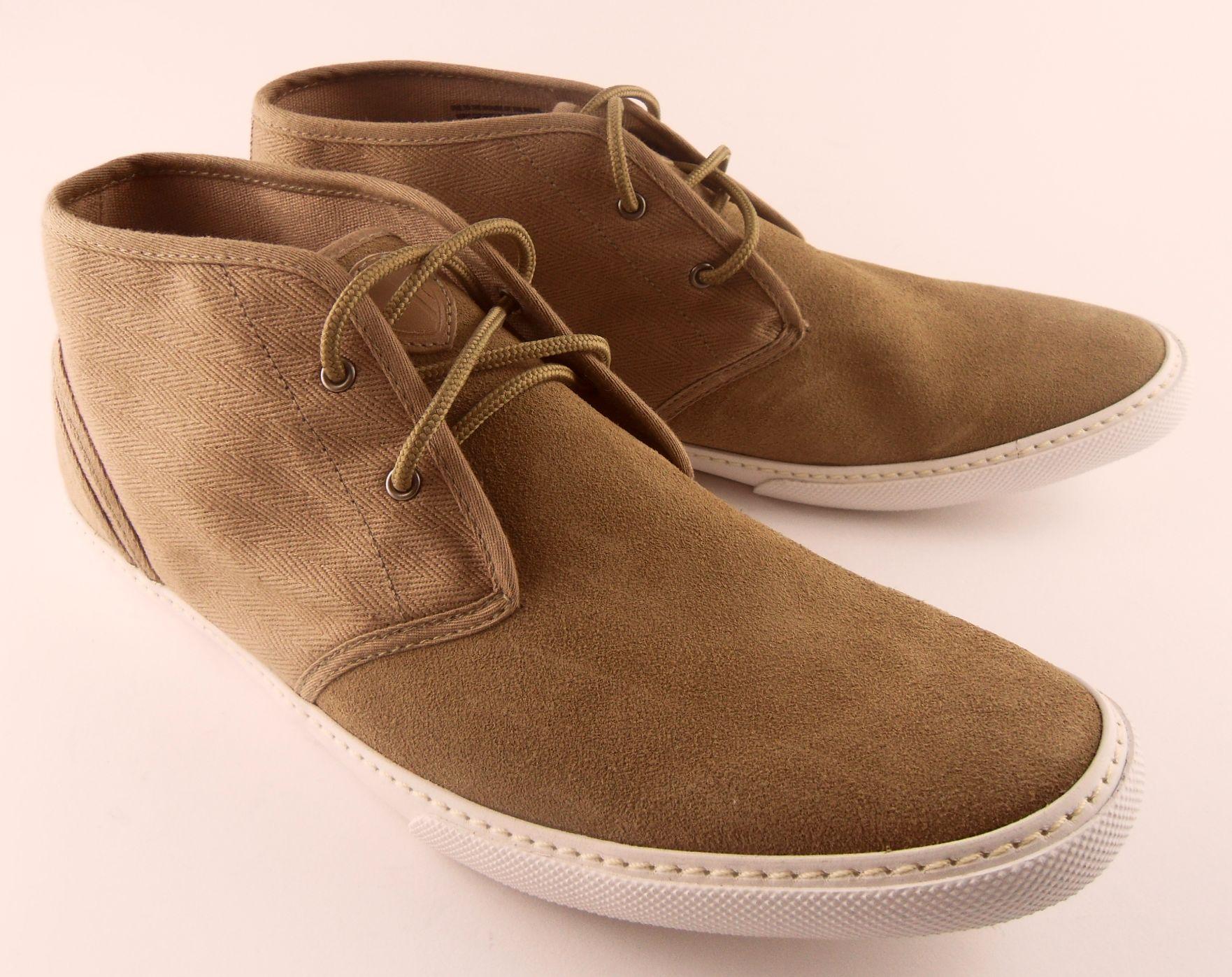 Mens Ben Sherman Suede Canvas Desert Chukka Boots 7 11 EBay