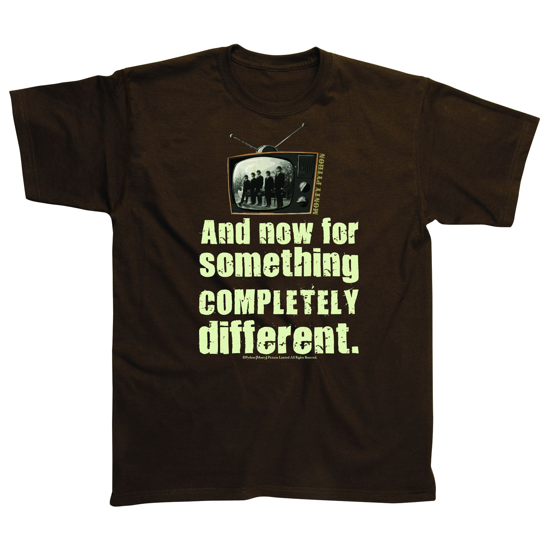 Mens Monty Python COMPLETELY DIFFERENT T Shirt Enlarged Preview