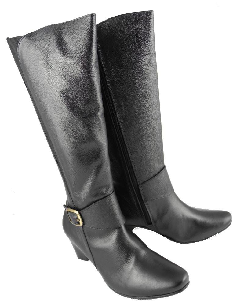 mod comfys elasticated calf wide leg leather high