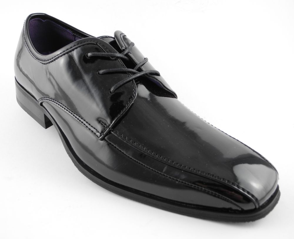 mens patent leather look formal dress shiny dinner suit
