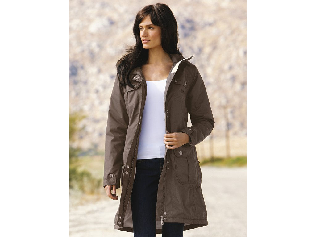 Ladies Trespass MALABO Waterproof Parka Long Jacket Coat Brown Sizes 10-22 Enlarged Preview