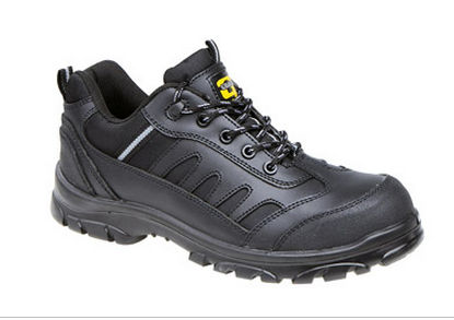 boys womens composite safety toe cap black leather work