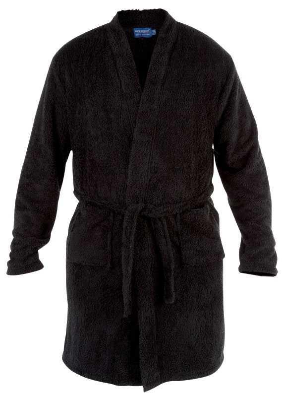 Mens Duke Soft Fluffy Luxury Black Dressing Gown Robe Big