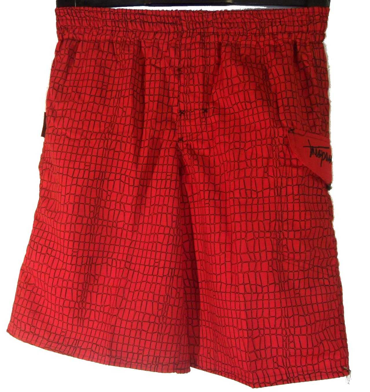 Boys TRESPASS NIBBLER Swimming Swim Sports Shorts Trunks Red Ages 13-16 Enlarged Preview