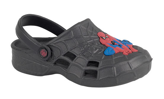 Boys-Spider-Man-Spiderman-Marvel-Comics-Lightweight-Sandals-Black-Sizes-8-2-5