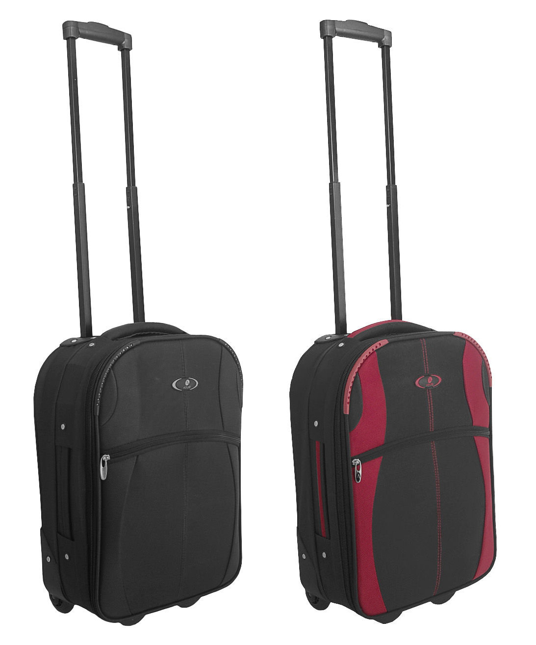 Small Hard Sided Cabin Case Hand Luggage Wheeled Trolley Flight ...
