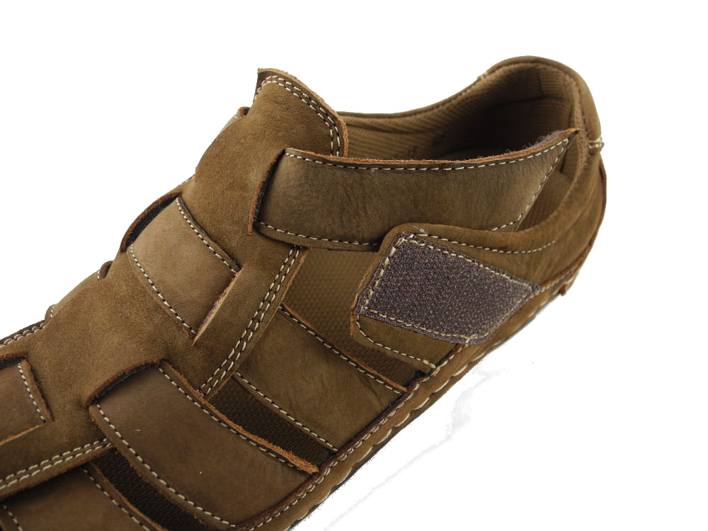 Mens Nubuck Leather Closed Toe Sandals Summer Trail Shoes