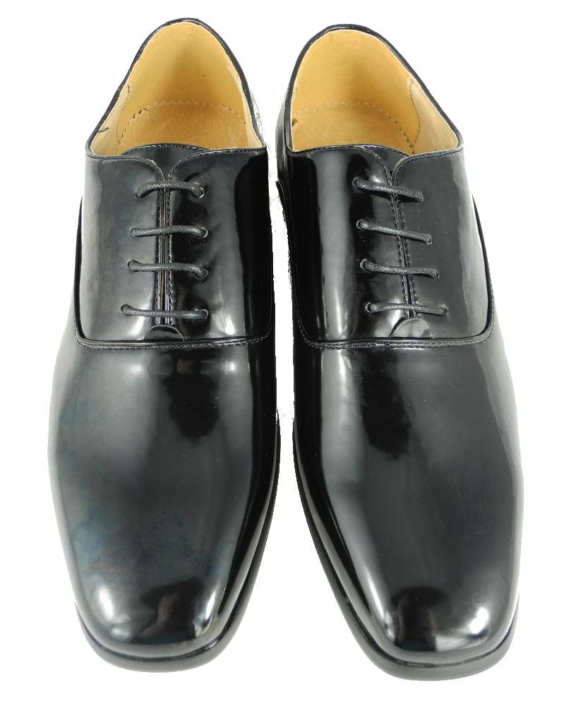 mens formal dinner suit dress wedding shoes black patent
