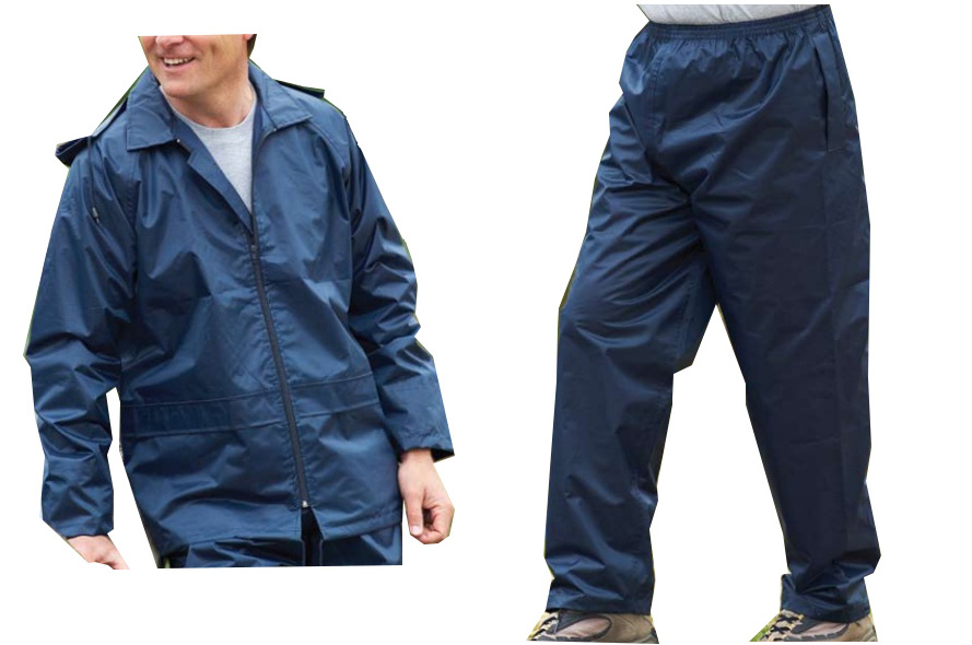 Mens waterproof jacket trousers fishing golf rain suit for Mens fishing rain gear