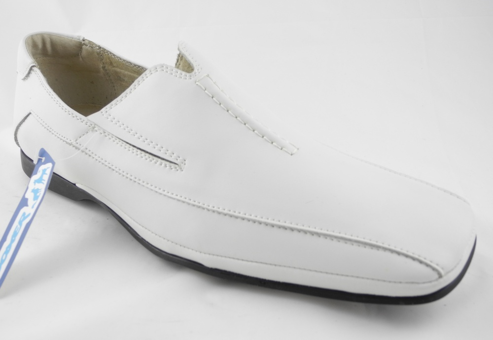 8505e7b8fe6 Mens Leather Slip On Loafers Wedding Shoes White Size 6 7 8 9 10 11