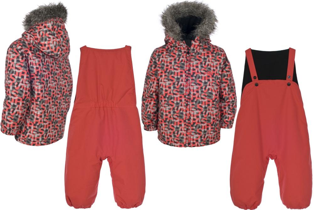 Boys TRESPASS Red Ski Jacket u0026 Salopettes Pants Snow Suit Set 6-24 months