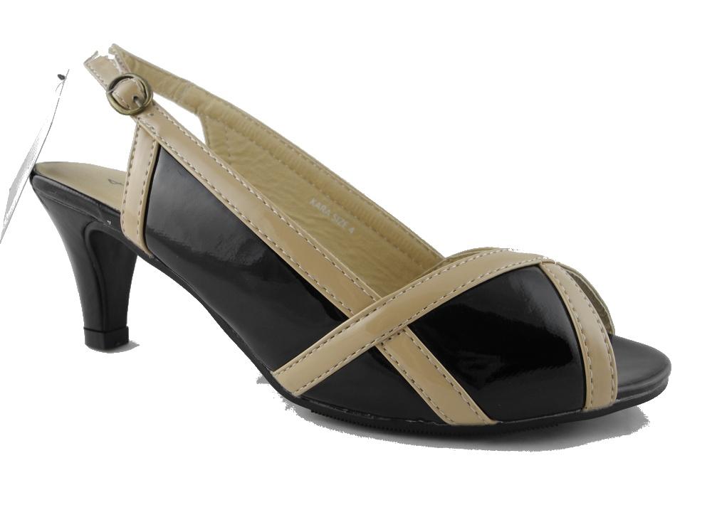 womens wide fit evening shoes sandals black beige