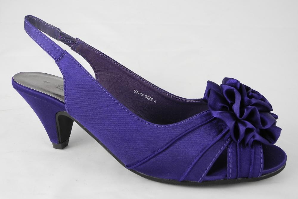 Purple Court Shoes Wide Fit