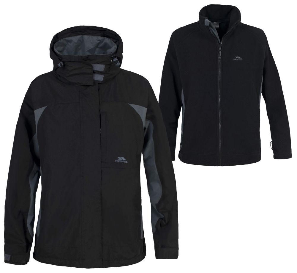 Ladies-3-in-1-Trespass-Waterproof-Jacket-with-Detachable-Fleece-Black-Size-8-18