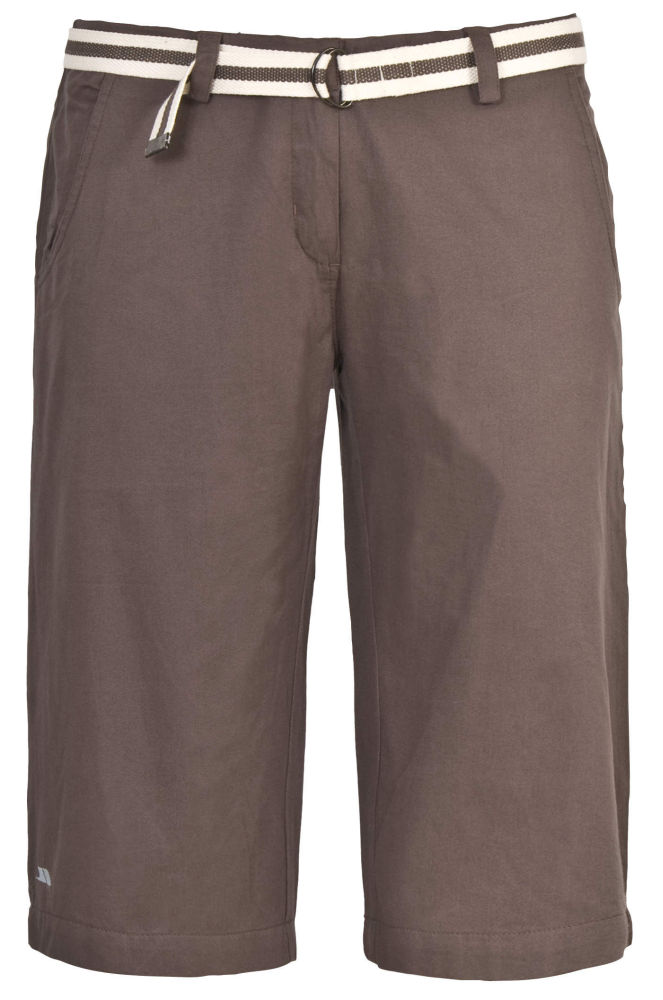 Womens TRESPASS Long Knee Length Cotton Hiking Shorts Brown Beige ...