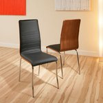 View Item dining chair chairs set of 2 Black Walnut Modern