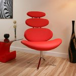 View Item AG Studios Large Rib Chair / Sofa / Seat Designer Red