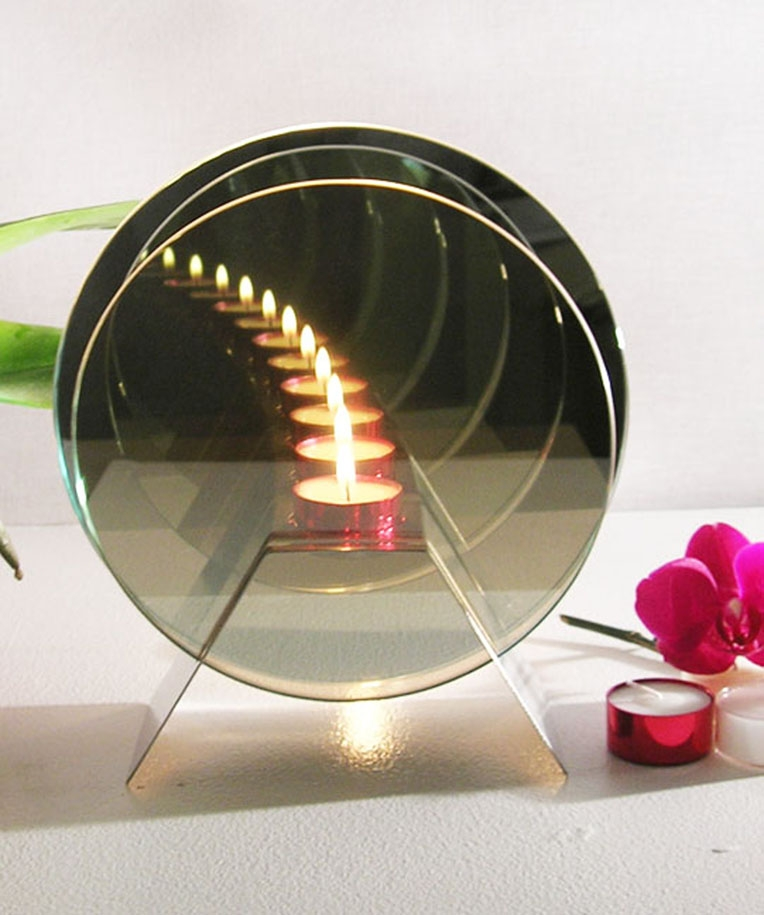 Christmas Present Gift Infinity Mirror Light Candle