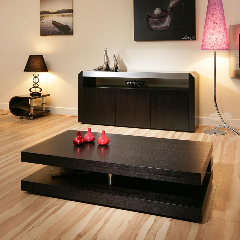 Glass Oak Coffee Table Uk: Modern Coffee Table Black Oak Stunning Designer Retro Not