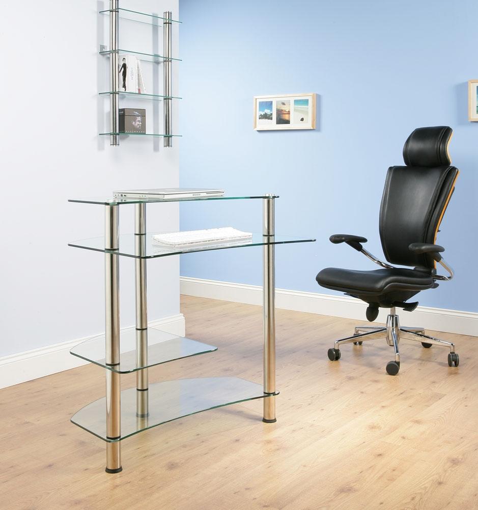 Quality Home Office Desks: High Quality Glass / Chrome Home Office Desk / Computer