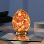View Item Egg Shaped table / desk Lamp/Light Brown/Red Glass 74R