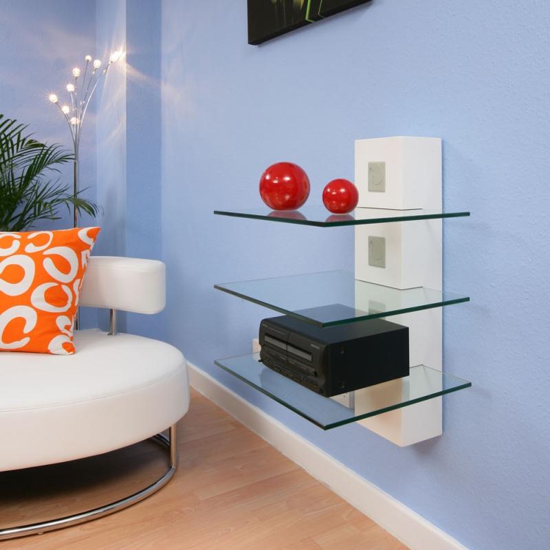 hi fi tv stand shelving white glass shelves wall mounted