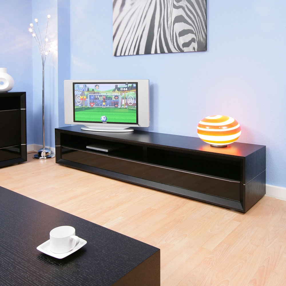large tv stand  cabinet in black oak with drawer and shelf mt  - large tv stand  cabinet in black oak with drawer and shelf mt f