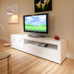 View Item LARGE TV/Television Cabinet/Entertainment Unit/Center White gloss 916