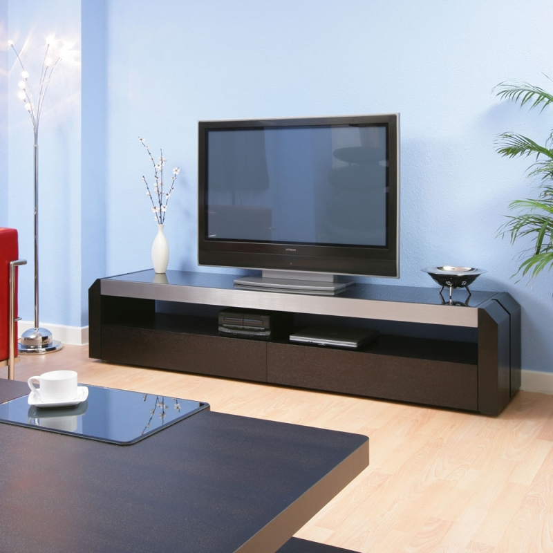 Tv Television Cabinet Cabinets Entertainment Unit Black