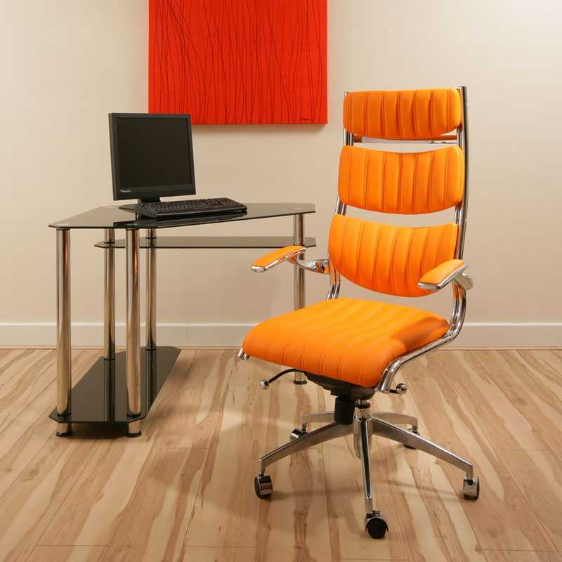 Executive Office Chair Orange Ergonomic Modern Comfortable Designer360