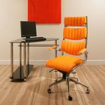 View Item Executive Office Chiar Orange Ergonomic Modern Comfortable Designer360