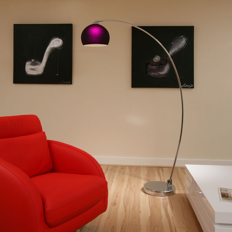 Retro Purple Glass Standard/Floor Lamp/Light LOU RET PU