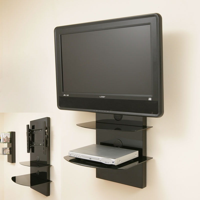 tv wall mount bracket shelves tilt vesa lcd up to32 ebay. Black Bedroom Furniture Sets. Home Design Ideas