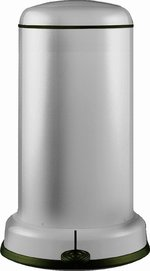 View Item WESCO BASEBOY 20 Ltr KITCHEN BIN in NEW SILVER