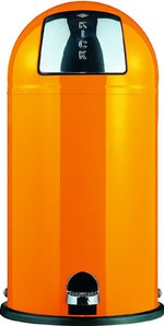 View Item WESCO KICKBOY 40 Ltr FOOT PEDAL BIN in ORANGE