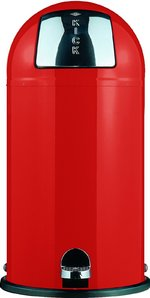 View Item WESCO KICKBOY 40 Ltr FOOT PEDAL BIN in RED