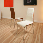 View Item dining chair chairs set of 2 Cream/Ivory Walnut Modern