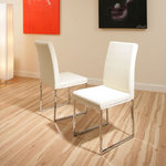 View Item dining chair chairs set of 2 Cream/Ivory Modern Cafe B