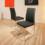 View Item dining chair chairs set of 2 Black Modern Cafe B