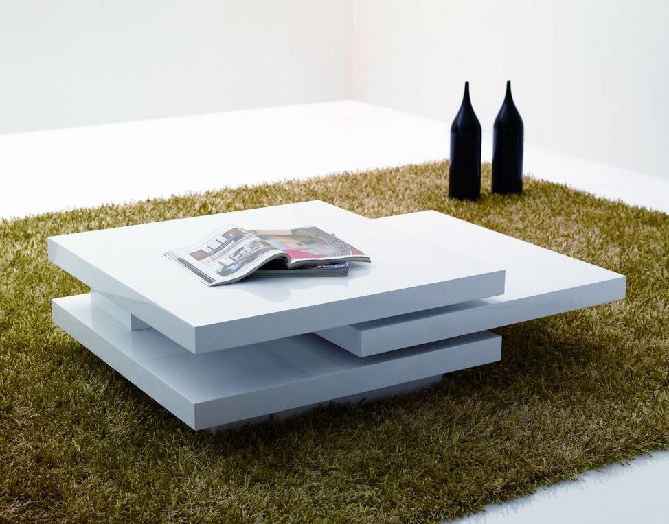 large white gloss coffee lamp side table modern designer rotating ebay. Black Bedroom Furniture Sets. Home Design Ideas