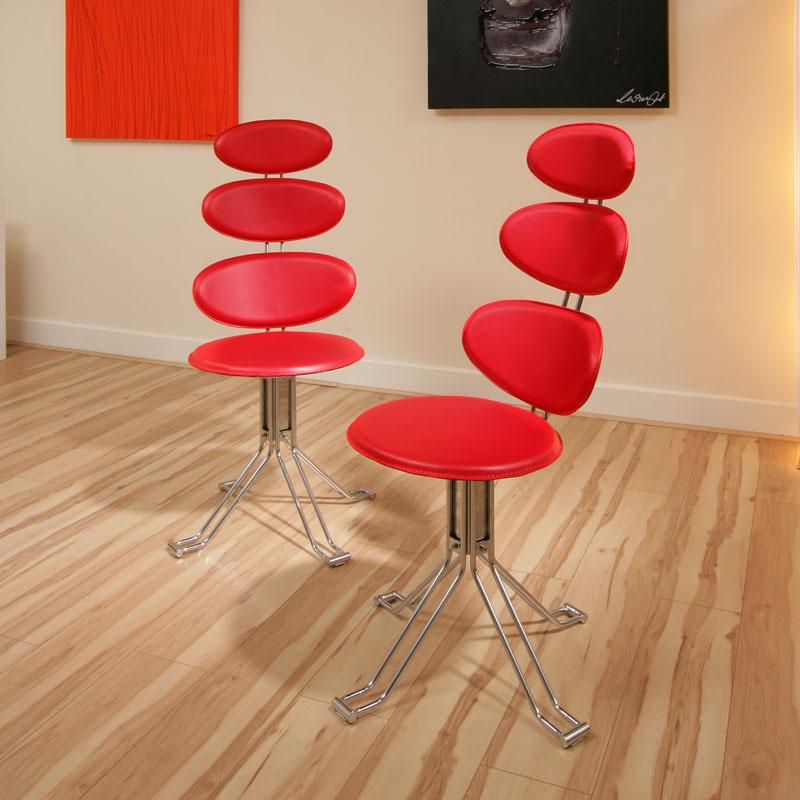 Round Glass Dining Table Black Safety Glass Chrome Base  : VENICECHAIRREDLR from ebay.co.uk size 800 x 800 jpeg 115kB