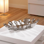 View Item Christmas Present Dish Tray Fruit Bowl Dining table Ceramic Chrome 10