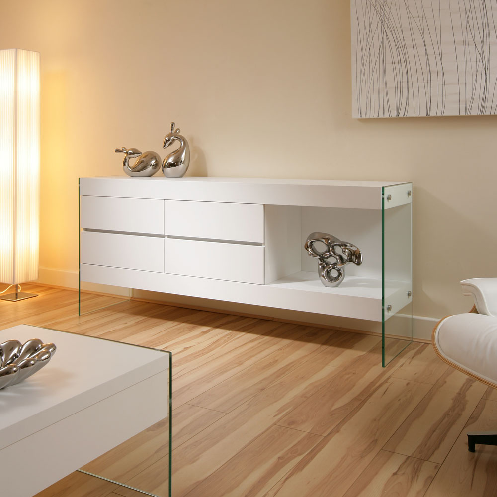 beautiful modern white sideboard sideboards buffet cabinet cabinets sb ebay. Black Bedroom Furniture Sets. Home Design Ideas
