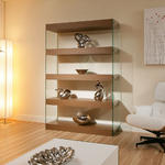 View Item Display Cabinet / Shelving Unit / Shelves Walnut / Glass Modern New