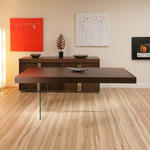 View Item Large Rectangular Dining Table in Tabacco Walnut Somer