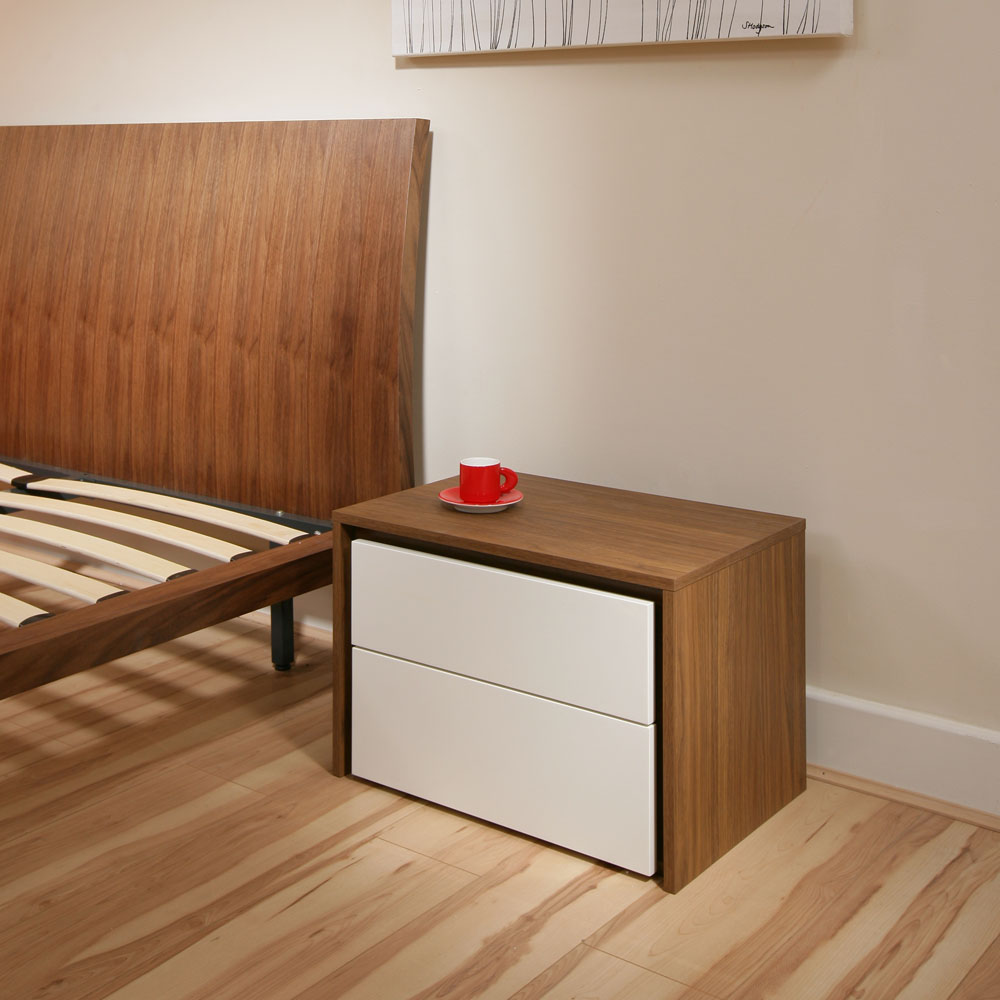 Bedside table tables nightstand night stands walnut off for White nightstand table